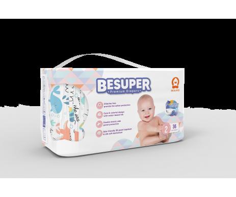 Scutece Besuper Premium MARIMEA 2 (S) 3-8 KG - 36 BUC